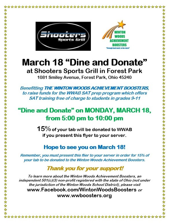 photo of color flier for March 18th fundraiser